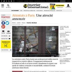 Attentats à Paris. Une atrocité annoncée