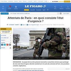 Attentats de Paris : en quoi consiste l'état d'urgence ?