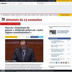 Après les attentats de Paris, Hollande prône un «autre régime constitutionnel»