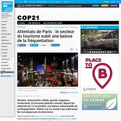 FRANCE - Attentats de Paris : le secteur du tourisme subit une baisse de la fréquentation
