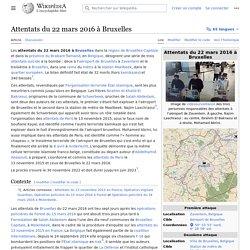 Attentats du 22 mars 2016 à Bruxelles