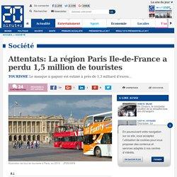 Attentats: La région Paris Ile-de-France a perdu 1,5 million de touristes