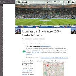 Attentats du 13 novembre 2015 en Île-de-France