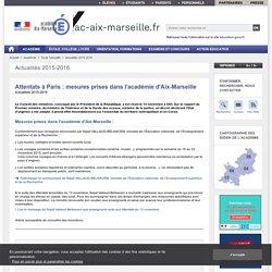 Attentats de Paris - ac-aix-marseille.fr