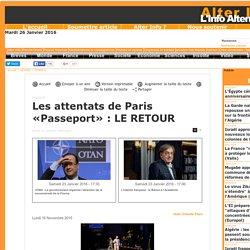 Les attentats de Paris «Passeport» : LE RETOUR