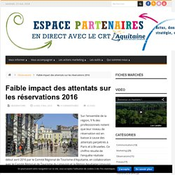 Site dédié aux acteurs aquitains du tourisme - CRT Aquitaine