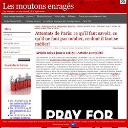 Attentats de Paris: ce qu'il faut savoir, ce qu'il ne faut pas oublier, ce dont il faut se méfier!