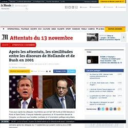 Après les attentats, les similitudes entre les discours de Hollande et de Bush en2001