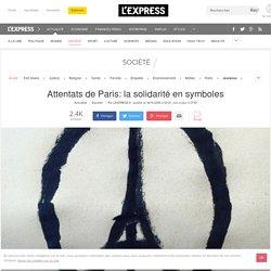 Attentats de Paris: la solidarité en symboles