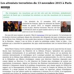 Les attentats terroristes du 13 novembre 2015 à Paris