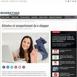Attentes et comportement du e-shopper