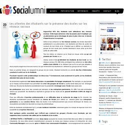 Les attentes des étudiants sur la présence des écoles sur les réseaux sociaux