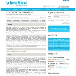 Article medicale Tunisie, Article medicale Attention , Déficit attentionnel , tests cognitifs