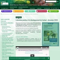 L'attention positive et le développement de l'enfant colloque / CRES Paca, décembre 2020