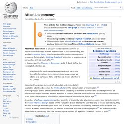 Attention economy - Wikipedia