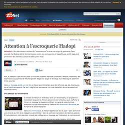 Attention à l'escroquerie Hadopi