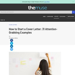 31 Attention Grabbing Cover Letter Examples