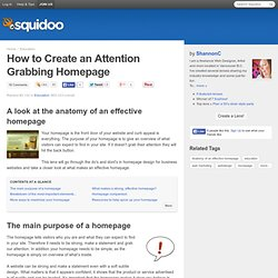 How to Create an Attention Grabbing Homepage