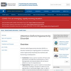 NIMH » Attention Deficit Hyperactivity Disorder