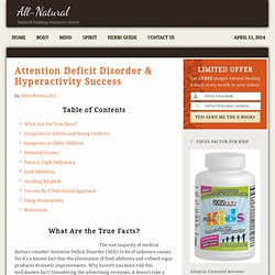 ADD - Attention Deficit Disorder - Hyperactivity - ADHD - Holistic Medicine