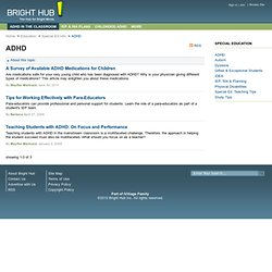 Teaching Students with ADHD (Attention Deficit / Hyperactivity Disorder): Special Education Articles, Tips & Advice for ADD or ADHD Students