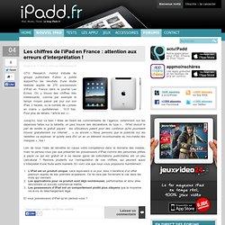 Les chiffres de l'iPad en France : attention aux erreurs d'interprétation ! « iPadd.fr : tout sur l'iPad d'Apple