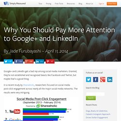 Why You Should Pay More Attention to Google+ and LinkedIn