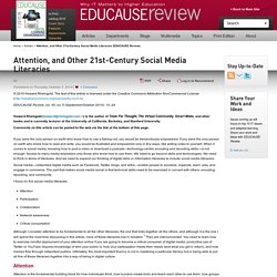 Attention, and Other 21st-Century Social Media Literacies