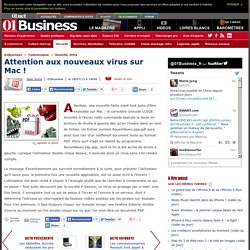 Attention aux nouveaux virus sur Mac !