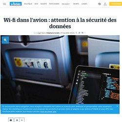 Wi-fi dans l'avion : attention à la sécurité des données