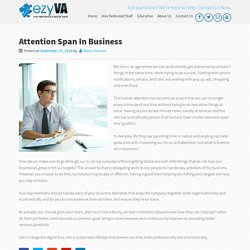 Attention Span In Business