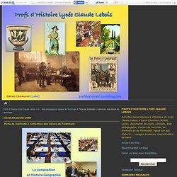 Fiche de méthode à l'attention des élèves de Terminale - Profs d'Histoire lycée Claude Lebois