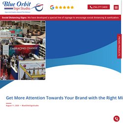 Get More Attention Towards Your Brand with the Right Mix of Trade Show Displays