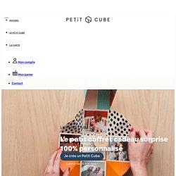 Petit Cube : petit coffret cadeau surprise & attentions personnalisées