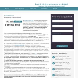 Attestation d'accessibilité-Les Ad'ap