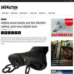 Attiba snow boots are the World's safest, and very stylish too! ⋆ SnowAction