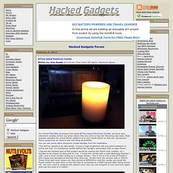 ATTiny based Electronic Candle