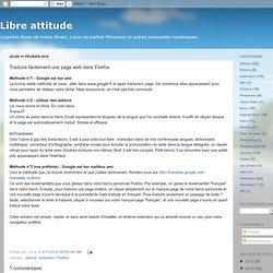 Traduire facilement une page web dans Firefox