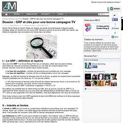 Dossier : GRP et clés pour une bonne campagne TV