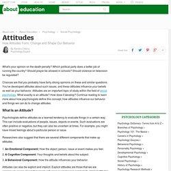 Attitudes - How Attitudes Form, Change and Shape Behavior