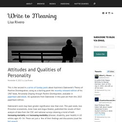 Attitudes and Qualities of Personality » Write to Meaning