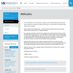 Attitudes (what is the issue?)