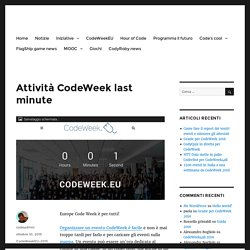 Attività CodeWeek last minute – codeweek.it