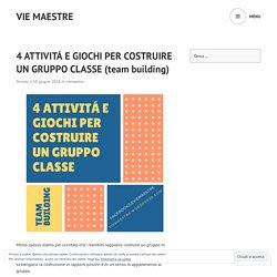 4 ATTIVITÁ E GIOCHI PER COSTRUIRE UN GRUPPO CLASSE (team building) – vie maestre
