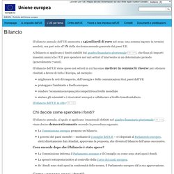 Attività dell'Unione europea - Bilancio