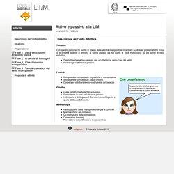 Scuola Digitale Indire: Attivo e passivo alla LIM