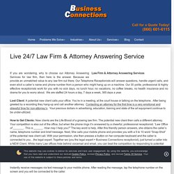 Are You Looking for an Attorney Answering Service