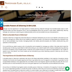Durable Powers of Attorney in NH & MA
