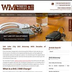 Utah Drunk Driving Defense Lawyer