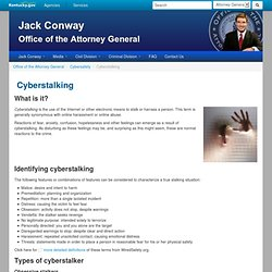 Office of the Attorney General : Cyberstalking